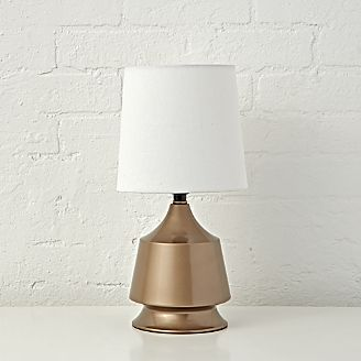 Gold Tabletop Touch Lamp