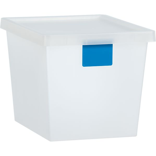 29 Liter Turquoise Tag Store Bin