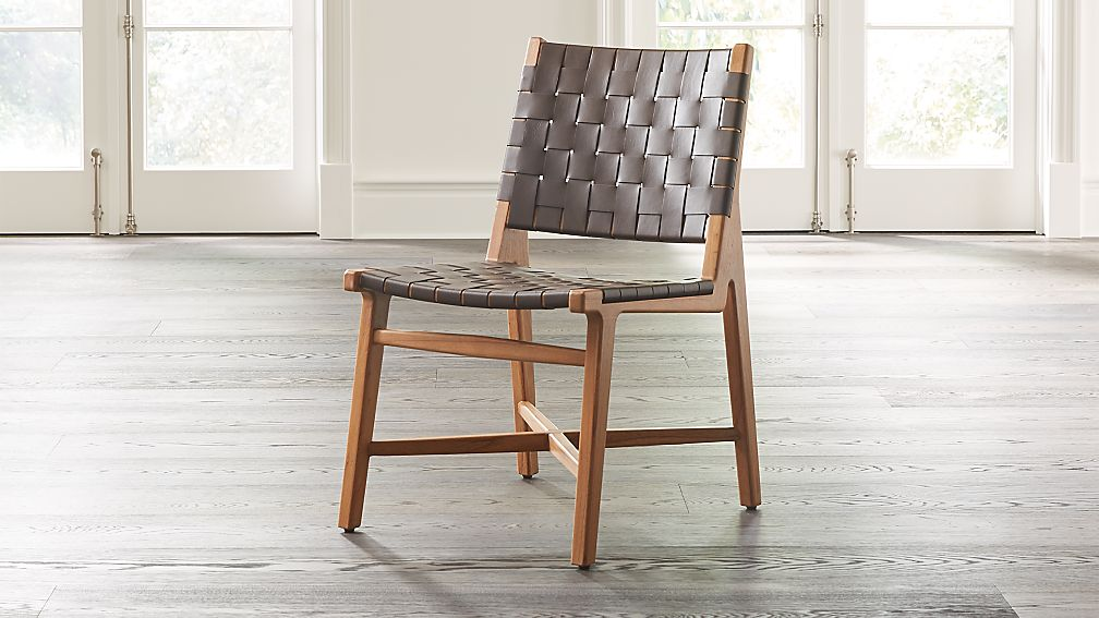 Taj Leather Strap Dining Chair - Image 1 of 8