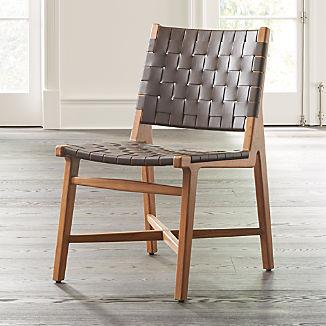 Taj Leather Strap Dining Chair