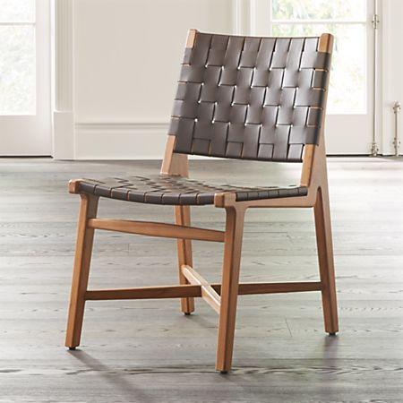 Wondrous Taj Leather Strap Dining Chair Bralicious Painted Fabric Chair Ideas Braliciousco