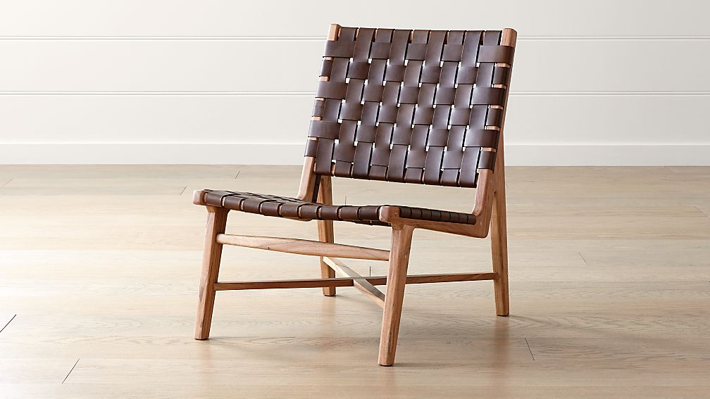 Taj Leather Strap Chair Reviews Crate And Barrel