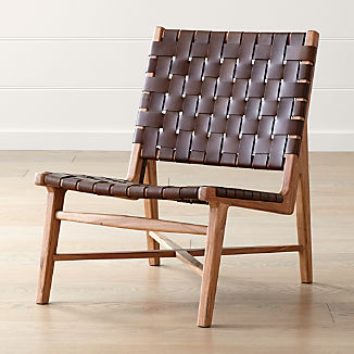 Taj Leather Strap Chair