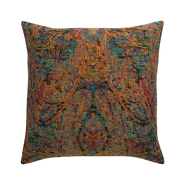 """Taj 23"""" Pillow with Feather-Down Insert"""