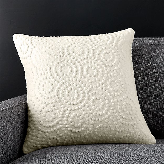 "Takato 18"" Pillow with Feather-Down Insert"