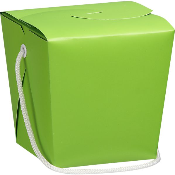 Lime-Teal Take-Out Box