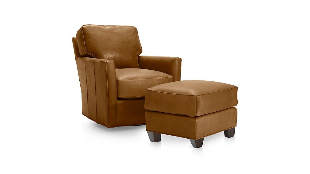 Talia Leather 360 Swivel Chair