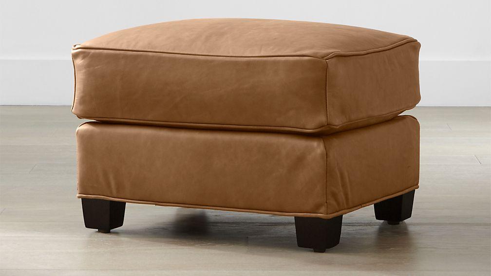 Talia Leather Ottoman