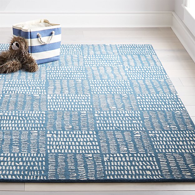 Tally Kids Area Rug Blue Crate And Barrel