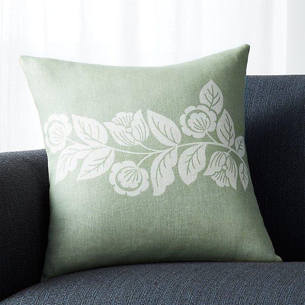 """Talulah Sage Green 18"""" Pillow"""