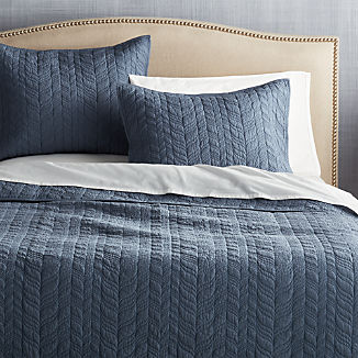 Tamara Blue Lightweight Quilts and Pillow Shams