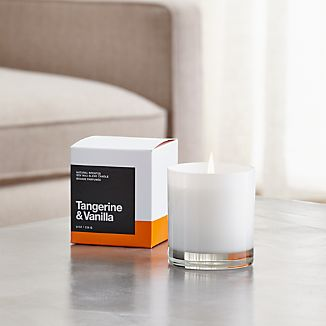 Tangerine and Vanilla Scented Candle