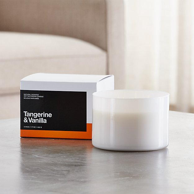 Tangerine and Vanilla 3-Wick Scented Candle