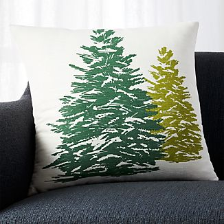 "Tannenbaum 20"" Pillow with Down-Alternative Insert"