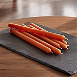 Orange Taper Candles, Set of 6