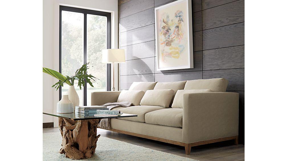 ... Taraval 3 Seat Sofa With Oak Base ...