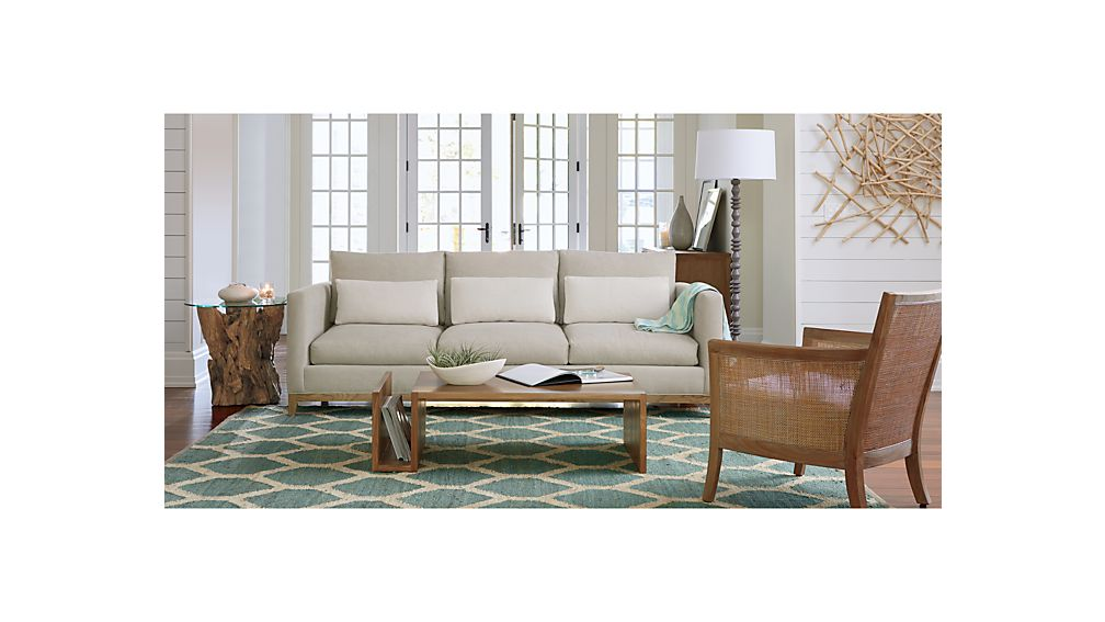 Taraval 2Seat Sofa with Oak Base Crate and Barrel