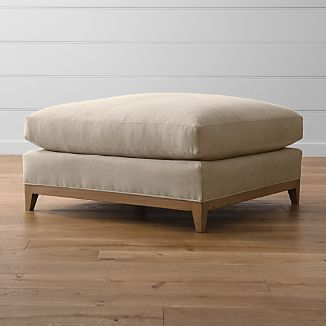 "Taraval 39"" Ottoman with Oak Base"
