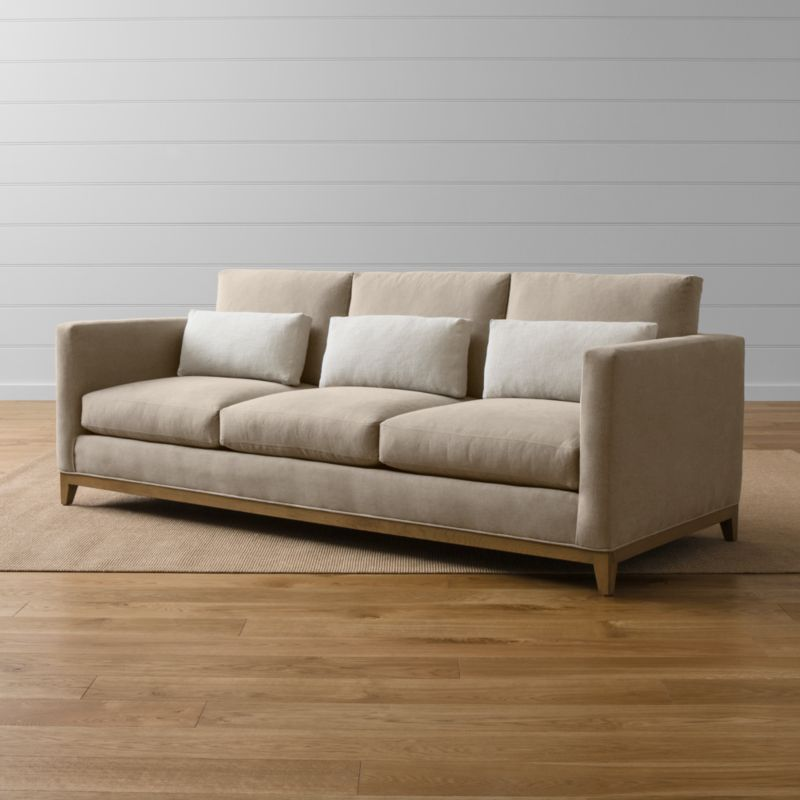 Taraval Three Seat Couch With Oak Base Reviews Crate