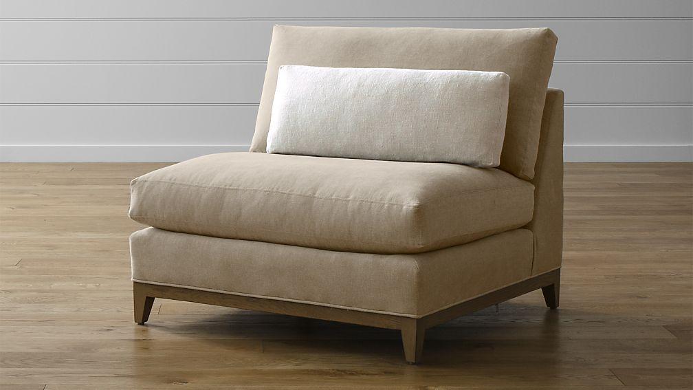 Taraval Armless Chair with Oak Base