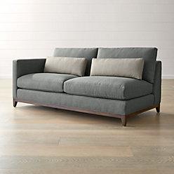 Taraval 3 Seat Oak Wood Base Sofa Reviews Crate And Barrel