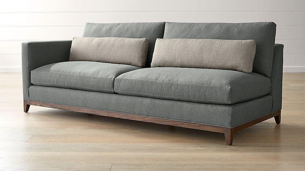 Taraval Oak Wood Base Left Arm Sofa ...