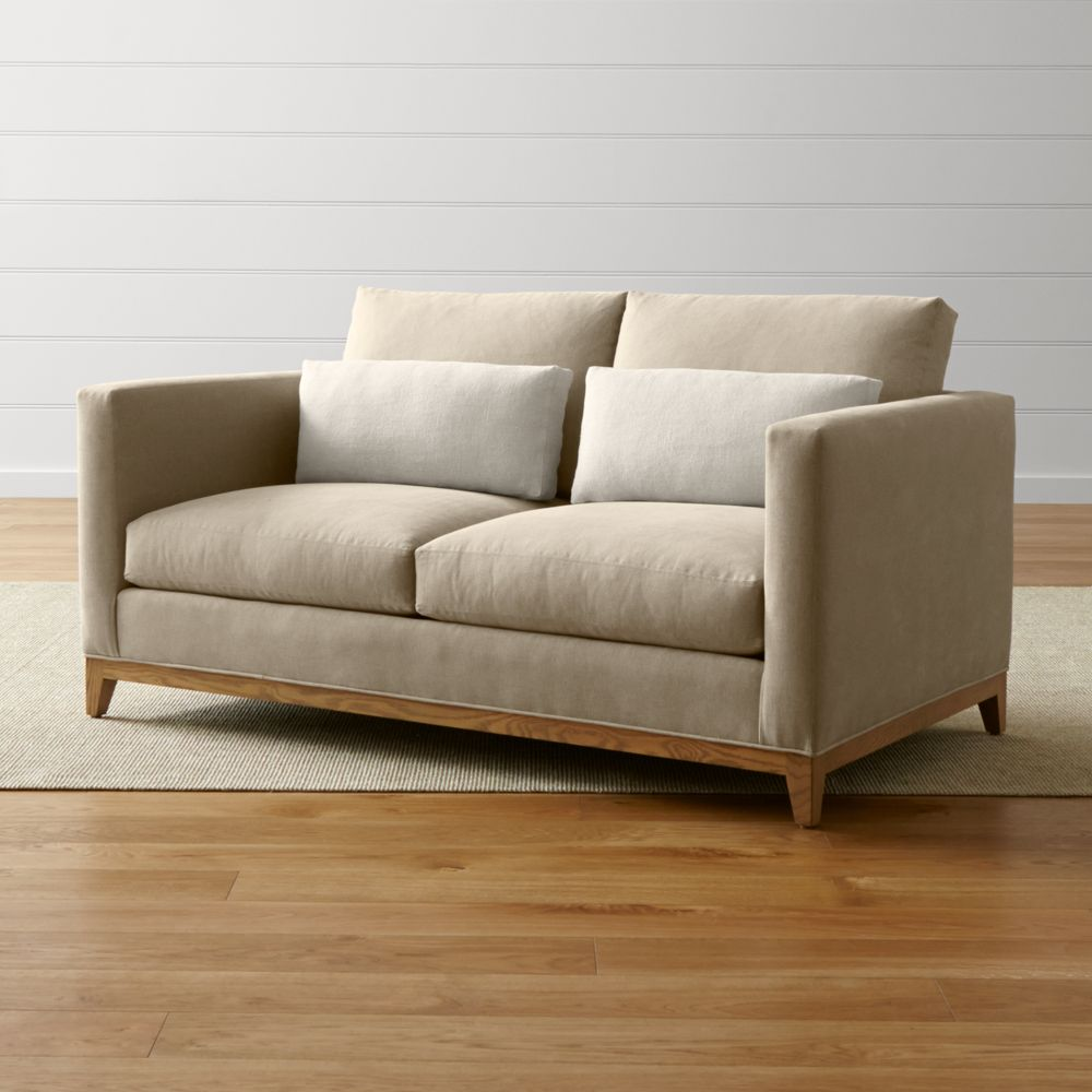 Taraval Loveseat with Oak Base - Crate and Barrel