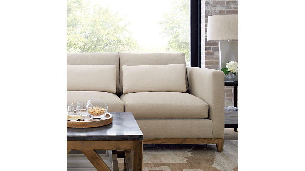 Taraval 2-Seat Sofa with Oak Base | Crate and Barrel