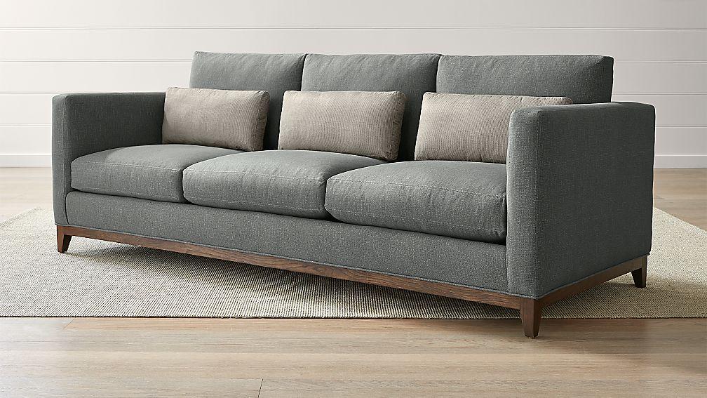 Taraval 3-Seat Oak Wood Base Sofa - Image 1 of 5