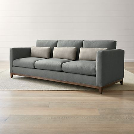 Taraval 3-Seat Oak Wood Base Sofa