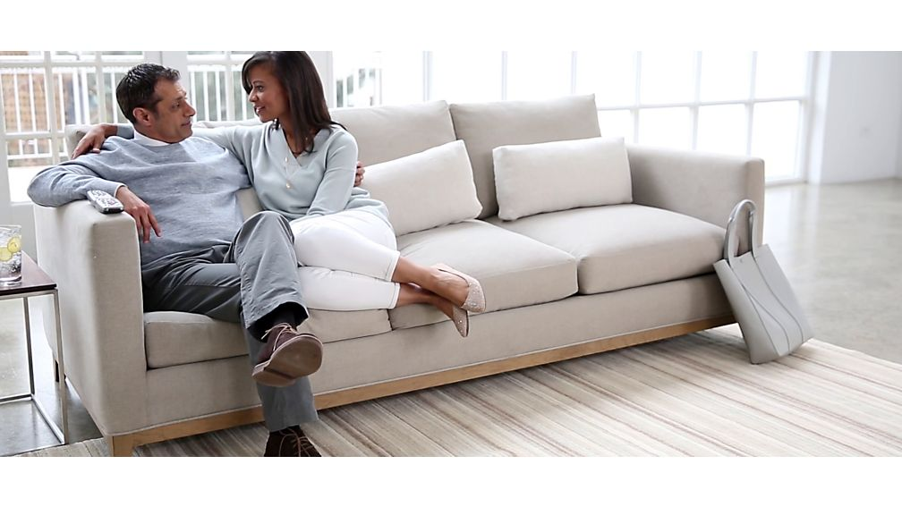 Taraval Left Arm Sofa with Oak Base