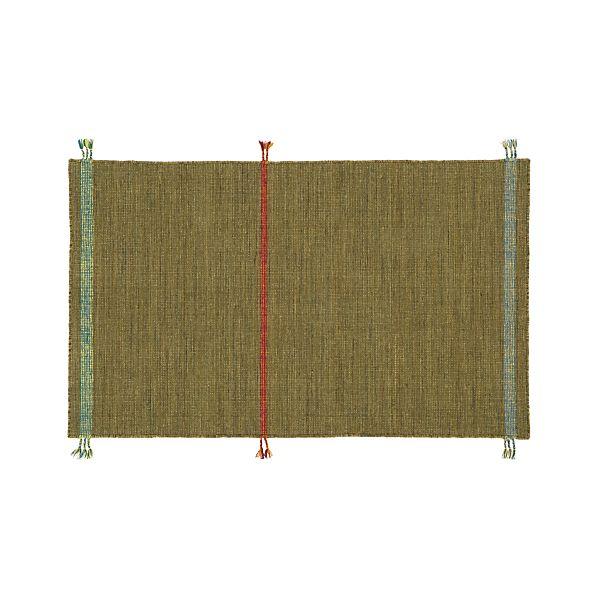 Tassel Green 3'x5' Rug