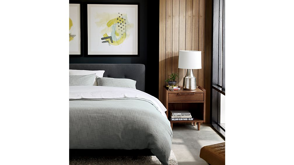 Tate Tall Upholstered Queen Bed