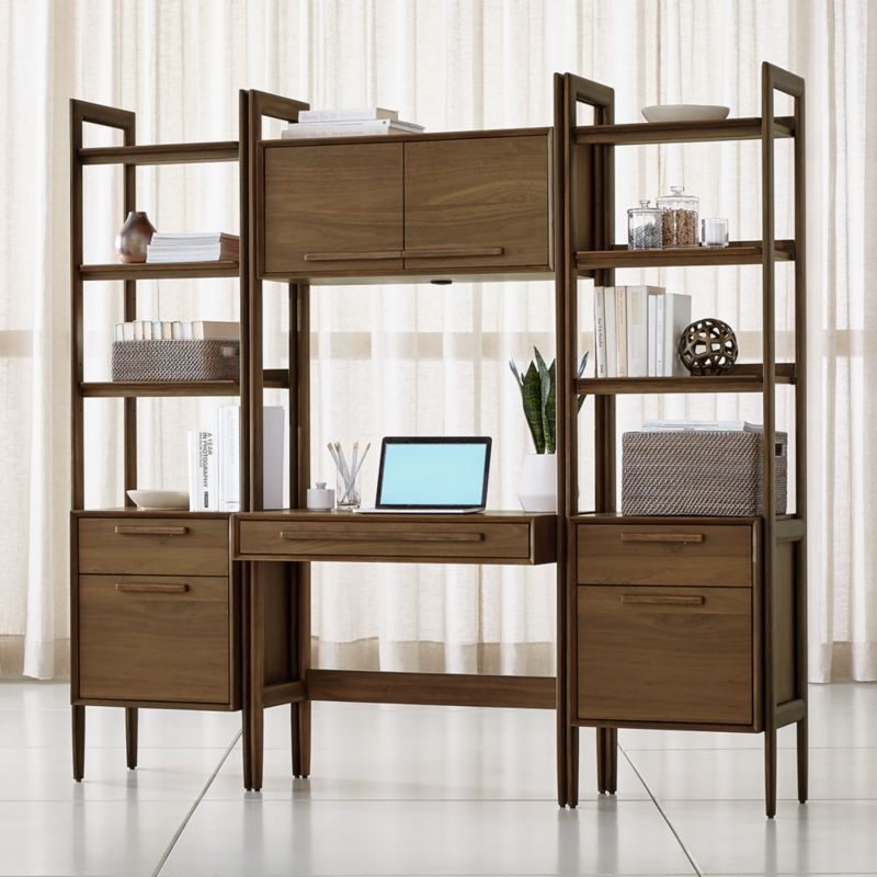 Tate Bookcase Desk With 2
