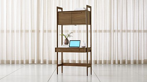 Tate Bookcase Desk with Power