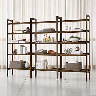 Tate Wide Bookcases, Set of 3