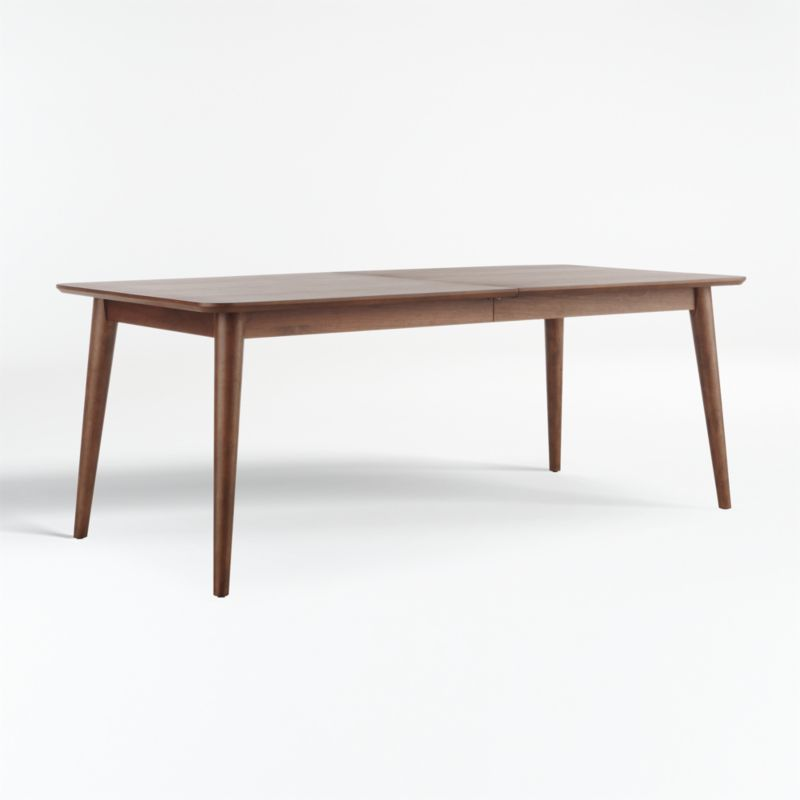 Tate Walnut Extendable Midcentury Dining Table Reviews Crate And Barrel