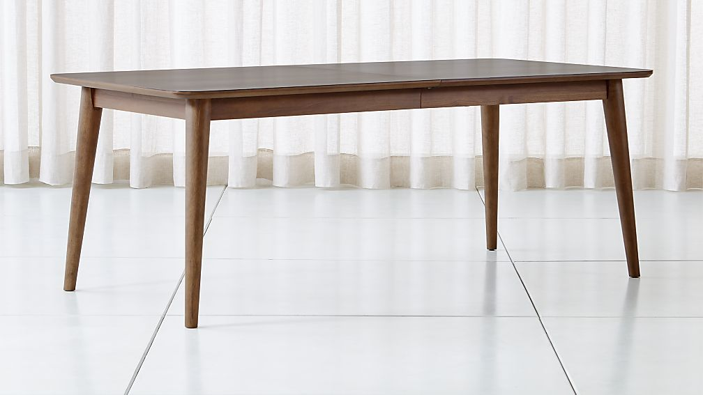 Tate Walnut Extendable Midcentury Dining Table - Image 1 of 11
