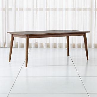 Tate Walnut Extendable Midcentury Dining Table