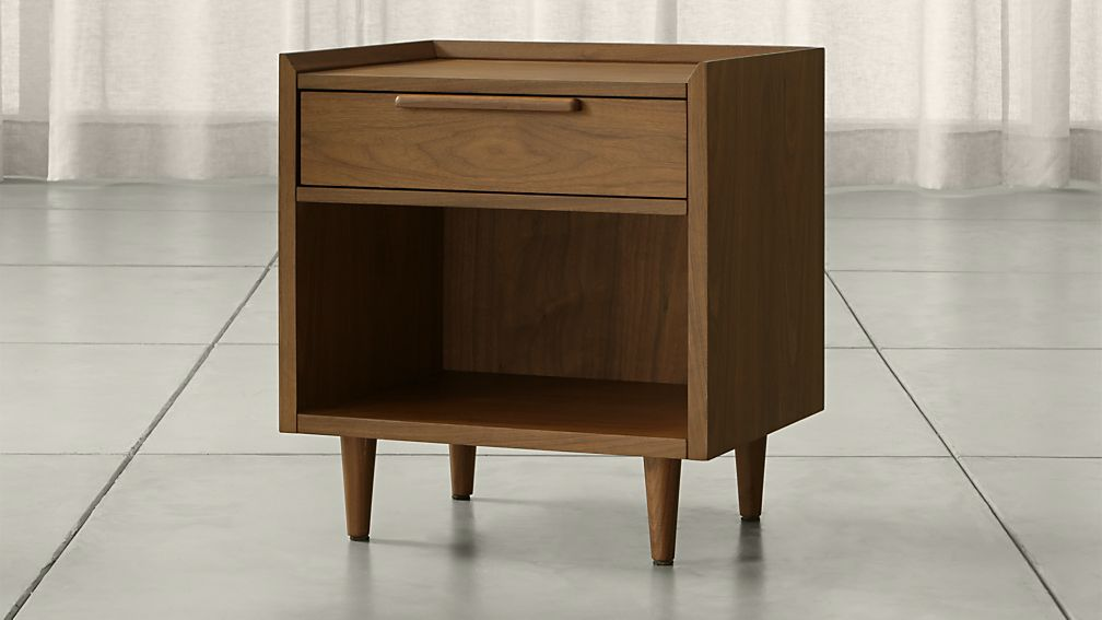 crate and barrel bedside table tate nightstand crate and barrel 18578
