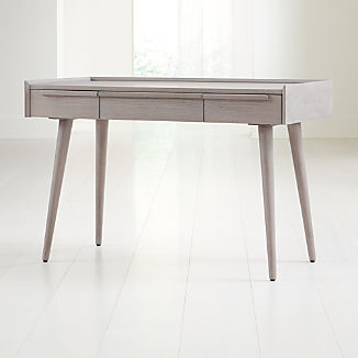 """Tate Stone 48"""" Desk with Power Outlet"""