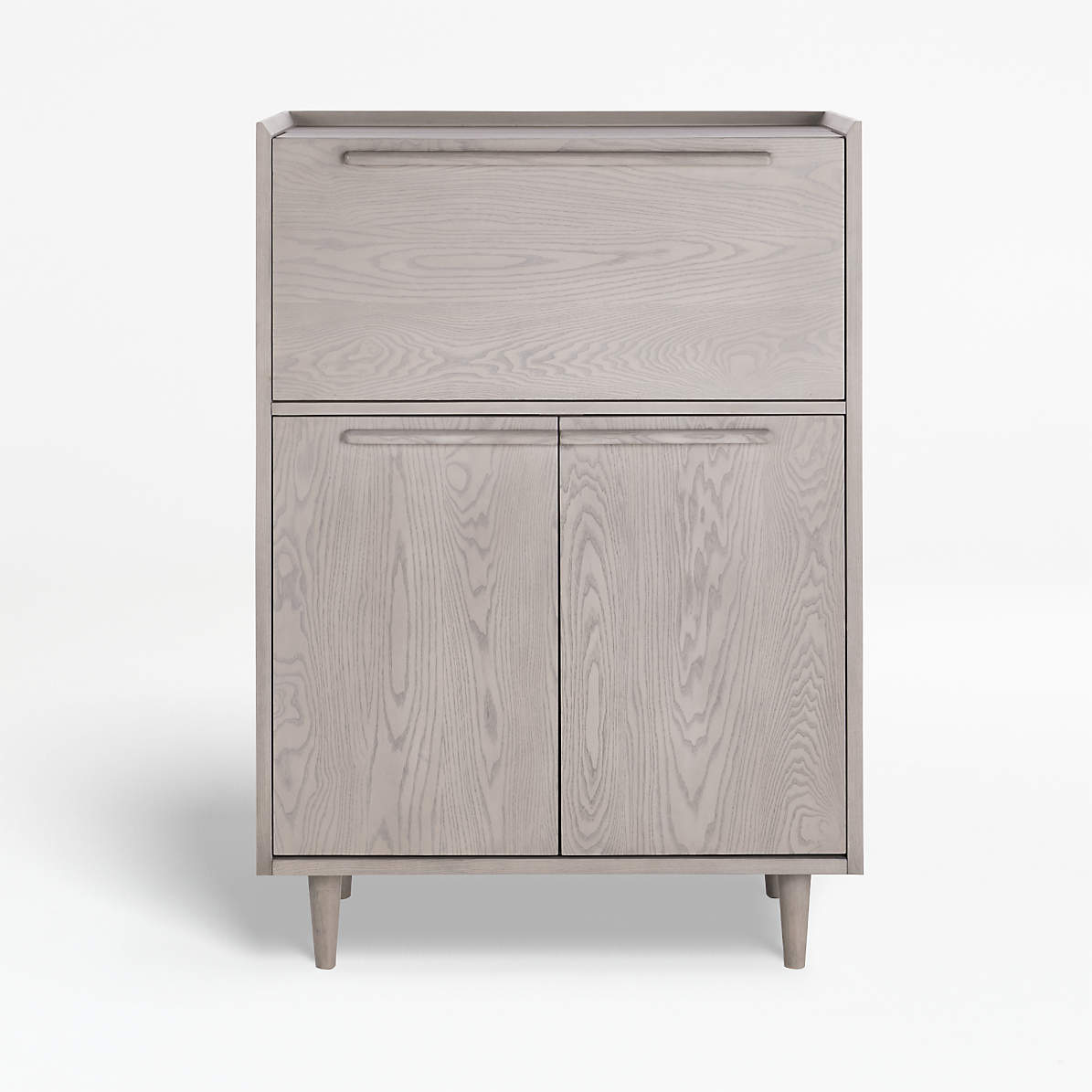 Tate Stone Bar Cabinet With Light Reviews Crate And Barrel