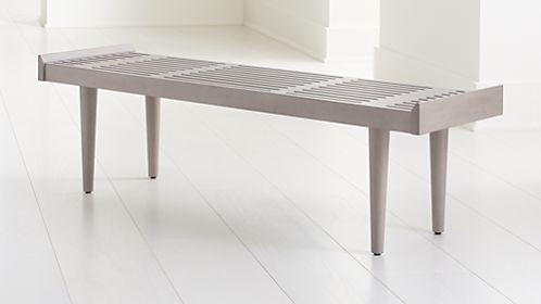 Tate Stone Slatted Bench