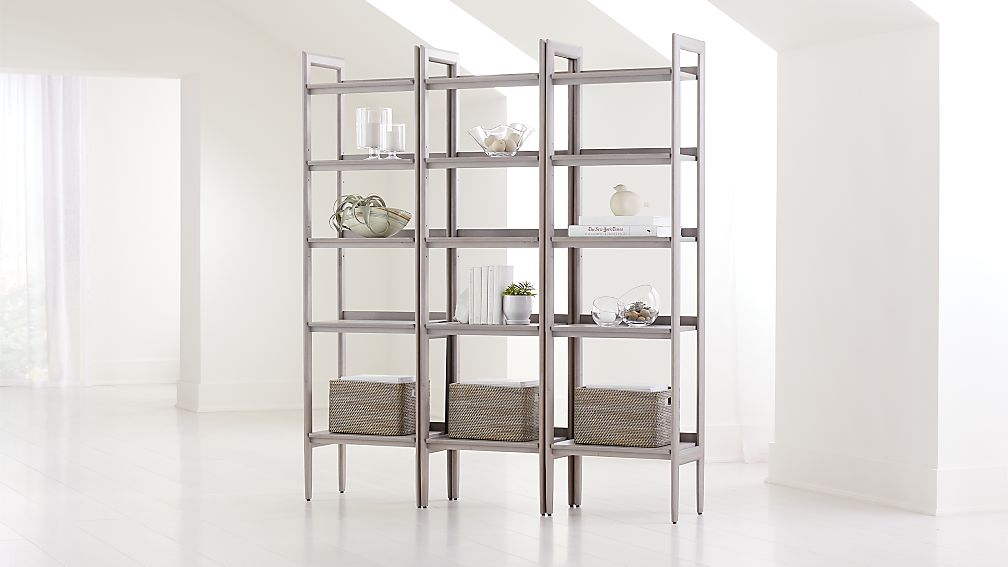 Tate Stone Bookcases, Set of 3 - Image 1 of 3