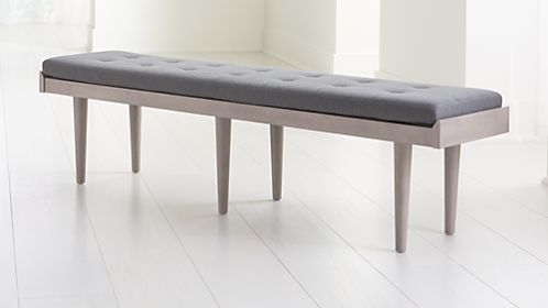 Tate Stone King Bench with Charcoal Cushion