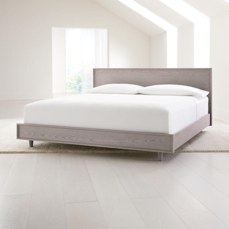 Tate Stone King Wood Bed