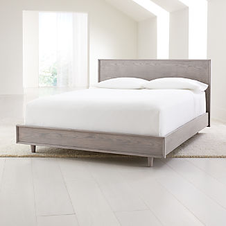 Tate Stone Queen Wood Bed