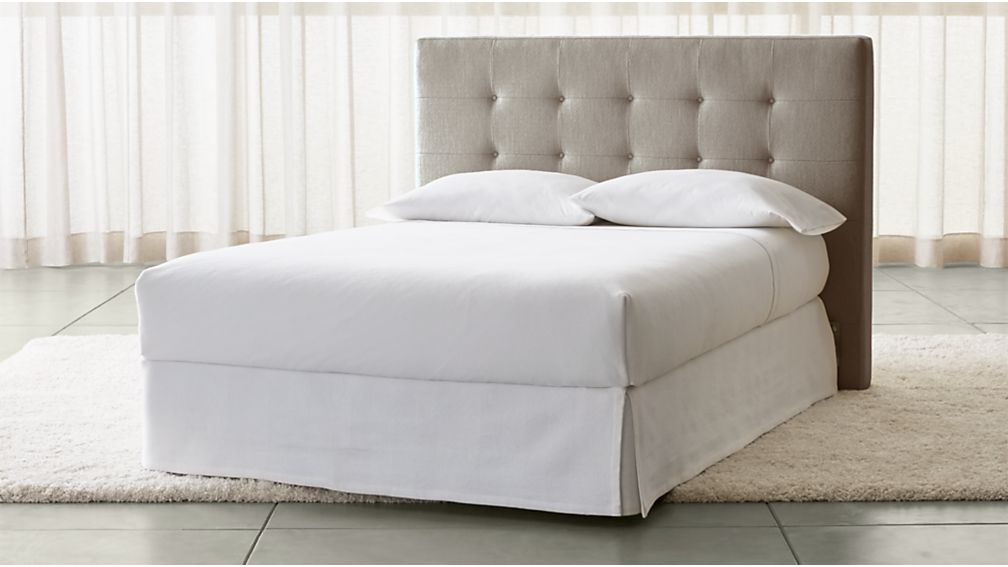 Tate Tall Upholstered Full Headboard Crate And Barrel