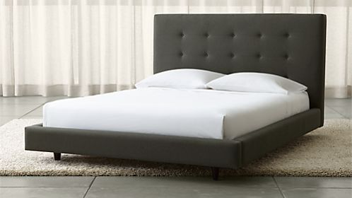 pin it tate tall upholstered bed