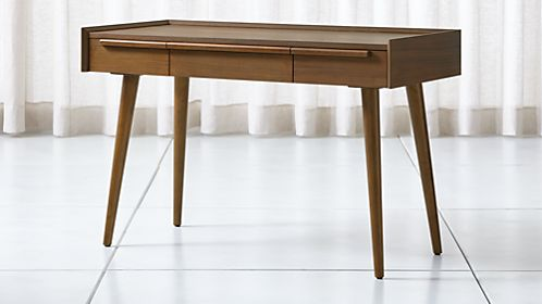 Tate 48 Walnut Desk With Outlet